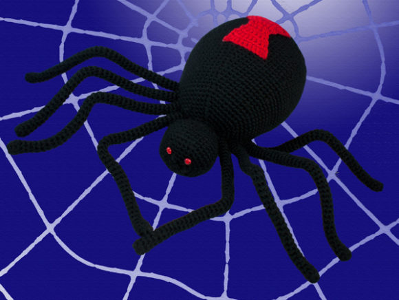 Black Widow Spider Crochet Pattern Graphic Crochet Patterns By Knit and Crochet Ever After - Image 2