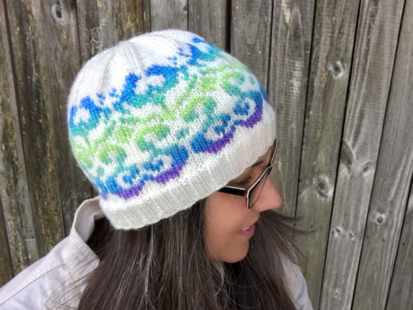 Blossoming Beanie Knit Pattern Graphic