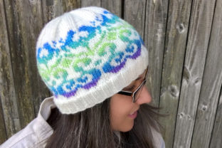 Blossoming Beanie Knit Pattern Graphic Knitting Patterns By Knit and Crochet Ever After