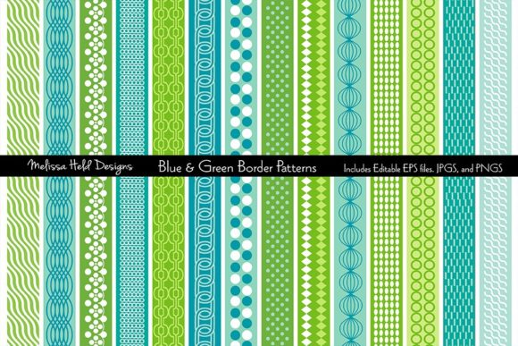 Download Free Blue Green Mod Border Patterns Grafico Por Melissa Held for Cricut Explore, Silhouette and other cutting machines.