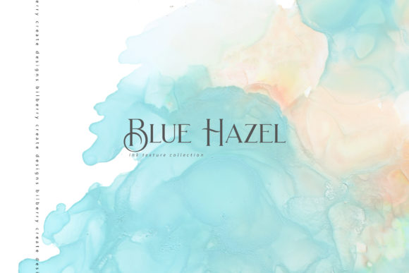 Blue Hazel Graphic Textures By BilberryCreate
