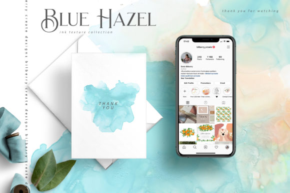 Blue Hazel Graphic Textures By BilberryCreate - Image 14
