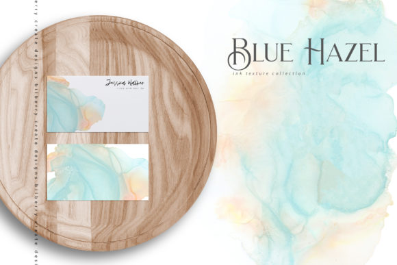 Blue Hazel Graphic Textures By BilberryCreate - Image 3