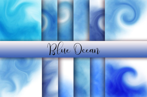 Blue Ocean Background Graphic Backgrounds By PinkPearly - Image 1