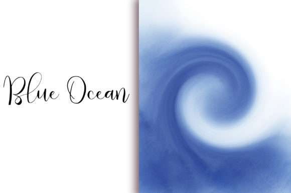 Blue Ocean Background Graphic Backgrounds By PinkPearly - Image 4