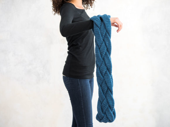 Braided Infinity Scarf Crochet Pattern Graphic