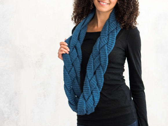 Braided Infinity Scarf Crochet Pattern Graphic Download