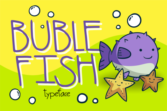 Print on Demand: Buble Fish Display Font By brithostype