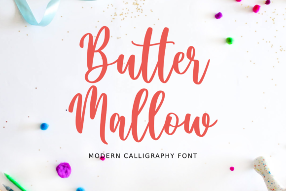 Print on Demand: Butter Mallow Script & Handwritten Font By Sibelumpagi Studio