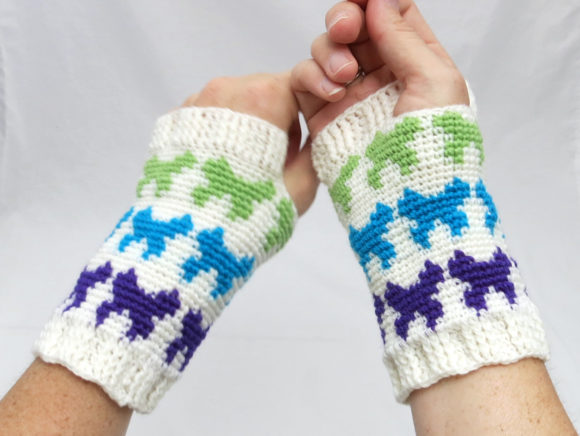 Butterfly Miitts Graphic Crochet Patterns By Knit and Crochet Ever After