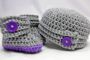 Buttoned Up Baby Gift Set Graphic Crochet Patterns By Knit and Crochet Ever After 1