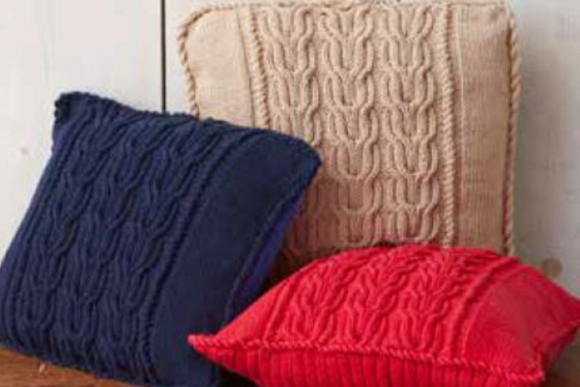 Cabled Pillows Knitting Pattern Graphic Knitting Patterns By wunderfulwool