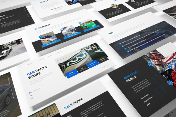 Car Parts Store Powerpoint Graphic Presentation Templates By formatikastd