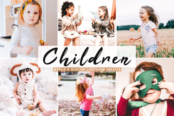Print on Demand: Children Lightroom Presets Pack Graphic Actions & Presets By Creative Tacos