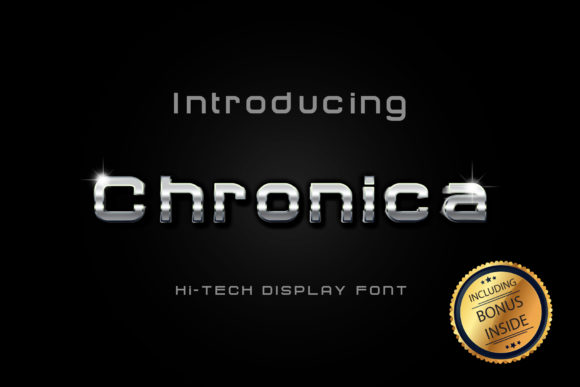 Print on Demand: Chronica Sans Serif Font By anomali.bisu