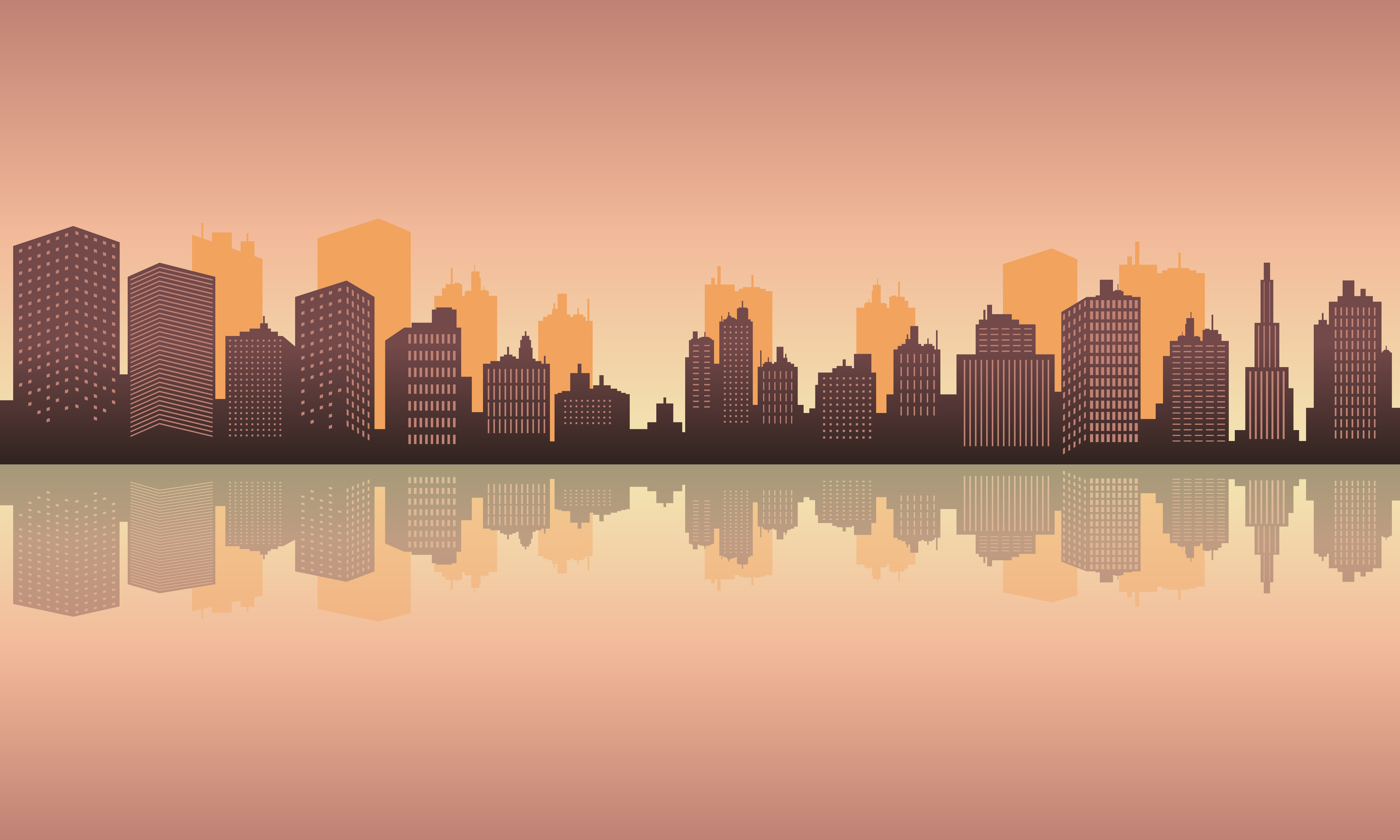 Download Free City Reflection In The Lake Graphic By Cityvector91 Creative for Cricut Explore, Silhouette and other cutting machines.