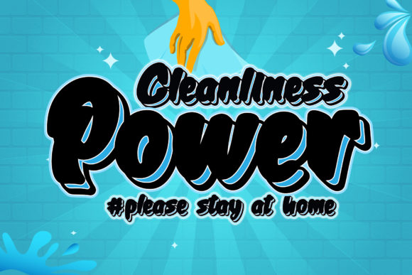 Print on Demand: Cleanliness Power Script & Handwritten Font By thomasaradea