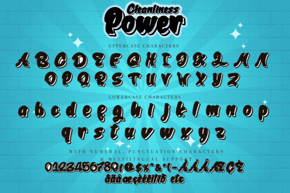 Cleanliness Power Font Image