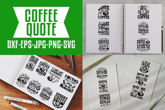 Download Free Coffee Quotes V7 Black Graphic By Tosca Digital Creative Fabrica for Cricut Explore, Silhouette and other cutting machines.