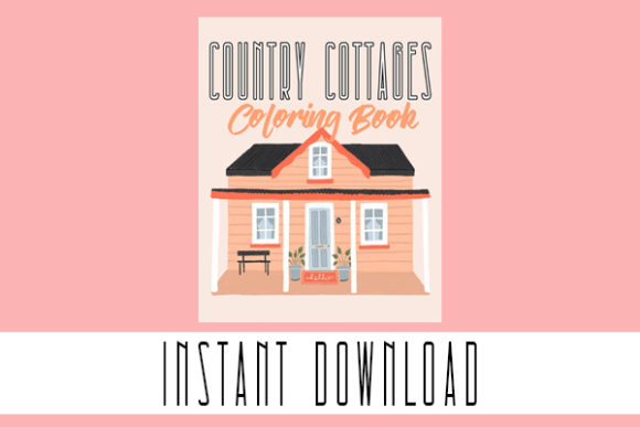Cool Country Cottage Coloring Book Pages Graphic Coloring Pages & Books Adults By elhaniihssane
