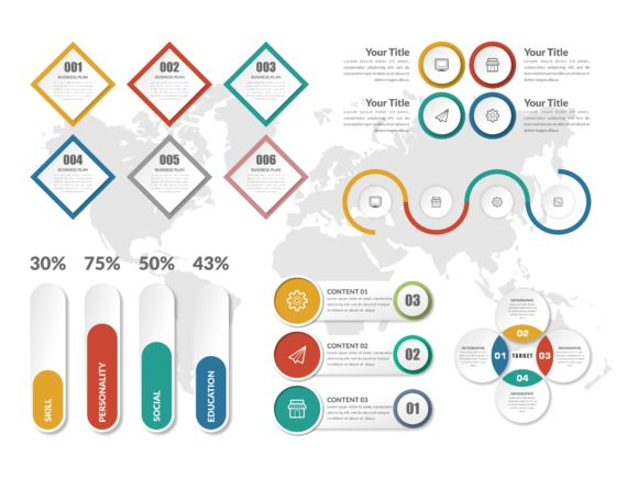 Creative Infographic Element Set Graphic Infographics By lutfyhasan