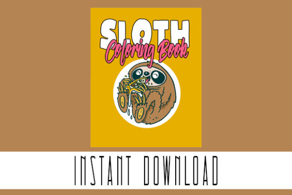 Cute Sloth Coloring Book Pages Graphic Coloring Pages & Books Kids By elhaniihssane