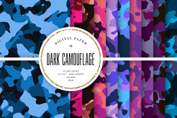 Download Free Dark Camo Camouflage Patterns Graphic By Sabina Leja for Cricut Explore, Silhouette and other cutting machines.