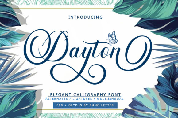 Print on Demand: Dayton Script & Handwritten Font By bungletter