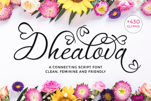 Print on Demand: Dhealova Script & Handwritten Font By axara creative