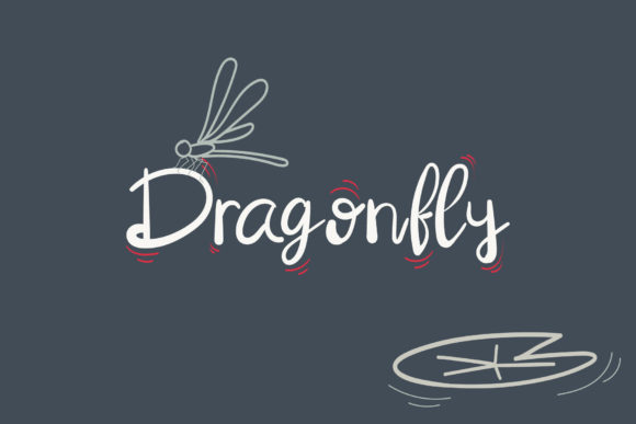 Print on Demand: Dragonfly Script & Handwritten Font By Wanida Toffy