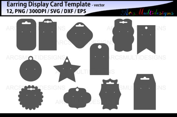 Earring Display Cards Template Graphic By Arcs Multidesigns
