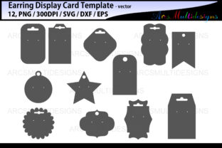 Print on Demand: Earring Display Cards Template Graphic Crafts By Arcs Multidesigns