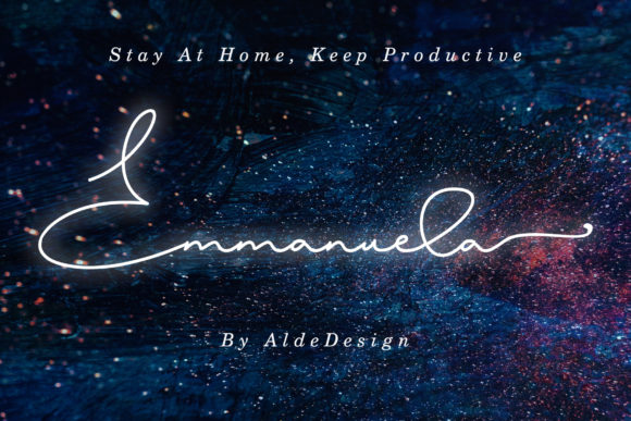 Print on Demand: Emmanuela Script & Handwritten Font By aldedesign