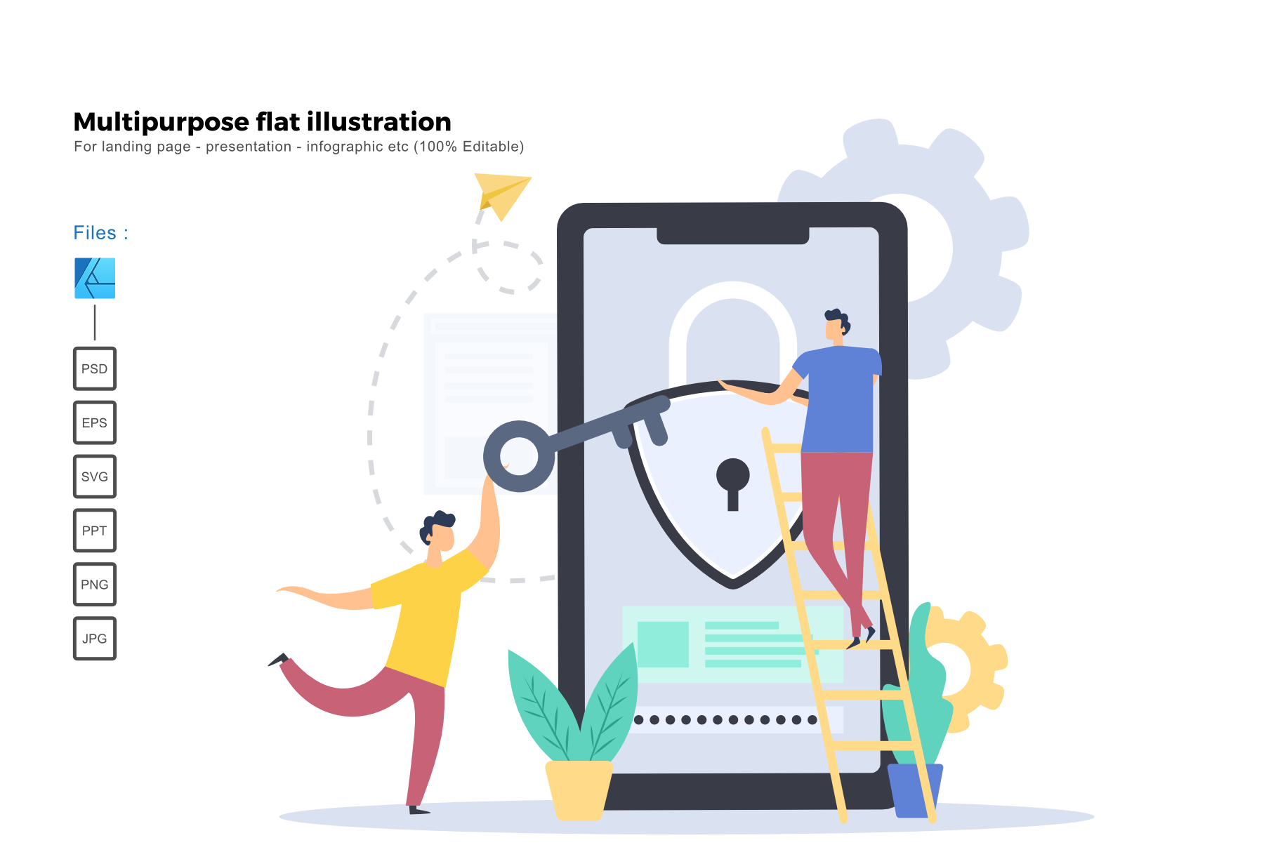 Download Free Flat Illustration Security Apps Grafik Von Rivatxfz Creative for Cricut Explore, Silhouette and other cutting machines.