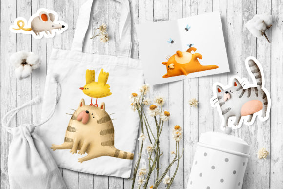 Print on Demand: Funny Cats Graphic Illustrations By Architekt_AT - Image 2