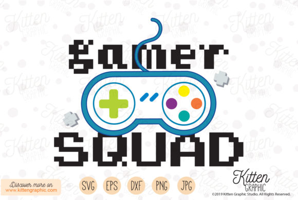 Download Free Gamer Squad Grafico Por Kittengraphicstudio Creative Fabrica for Cricut Explore, Silhouette and other cutting machines.