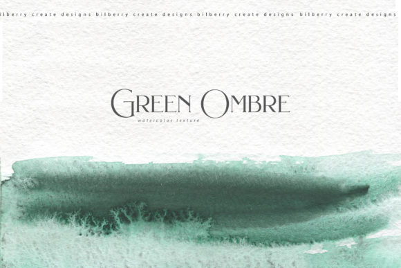 Green Ombre Collection Graphic Textures By BilberryCreate