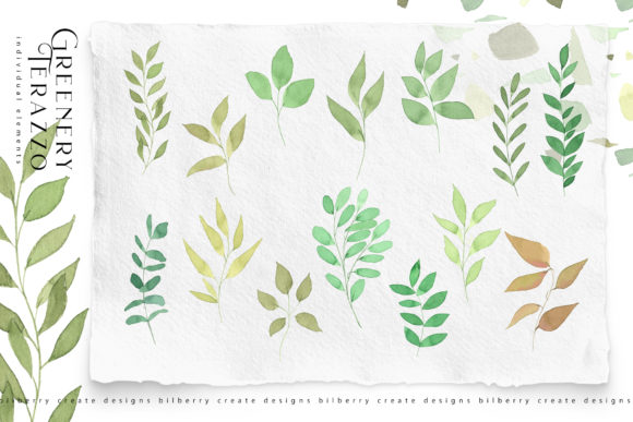 Greenery Terazzo Graphic Illustrations By BilberryCreate - Image 2