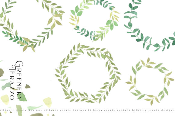 Greenery Terazzo Graphic Illustrations By BilberryCreate - Image 3