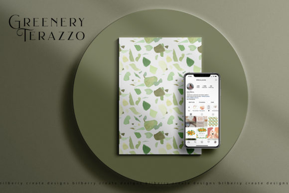 Greenery Terazzo Preview