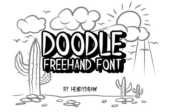 Print on Demand: HD Doodle Script & Handwritten Font By hendy draw