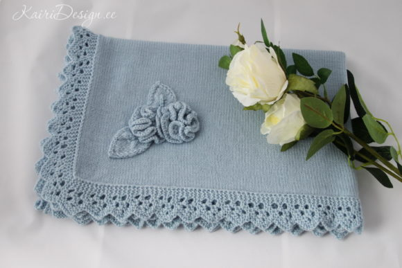 Download Free Hand Knitting Pattern Baby Blanket Graphic By Kairi Molder for Cricut Explore, Silhouette and other cutting machines.