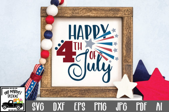 Happy 4th of July Graphic Crafts By oldmarketdesigns
