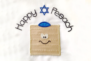 Happy Pesach Passover Matzo Applique Holidays & Celebrations Embroidery Design By DesignedByGeeks