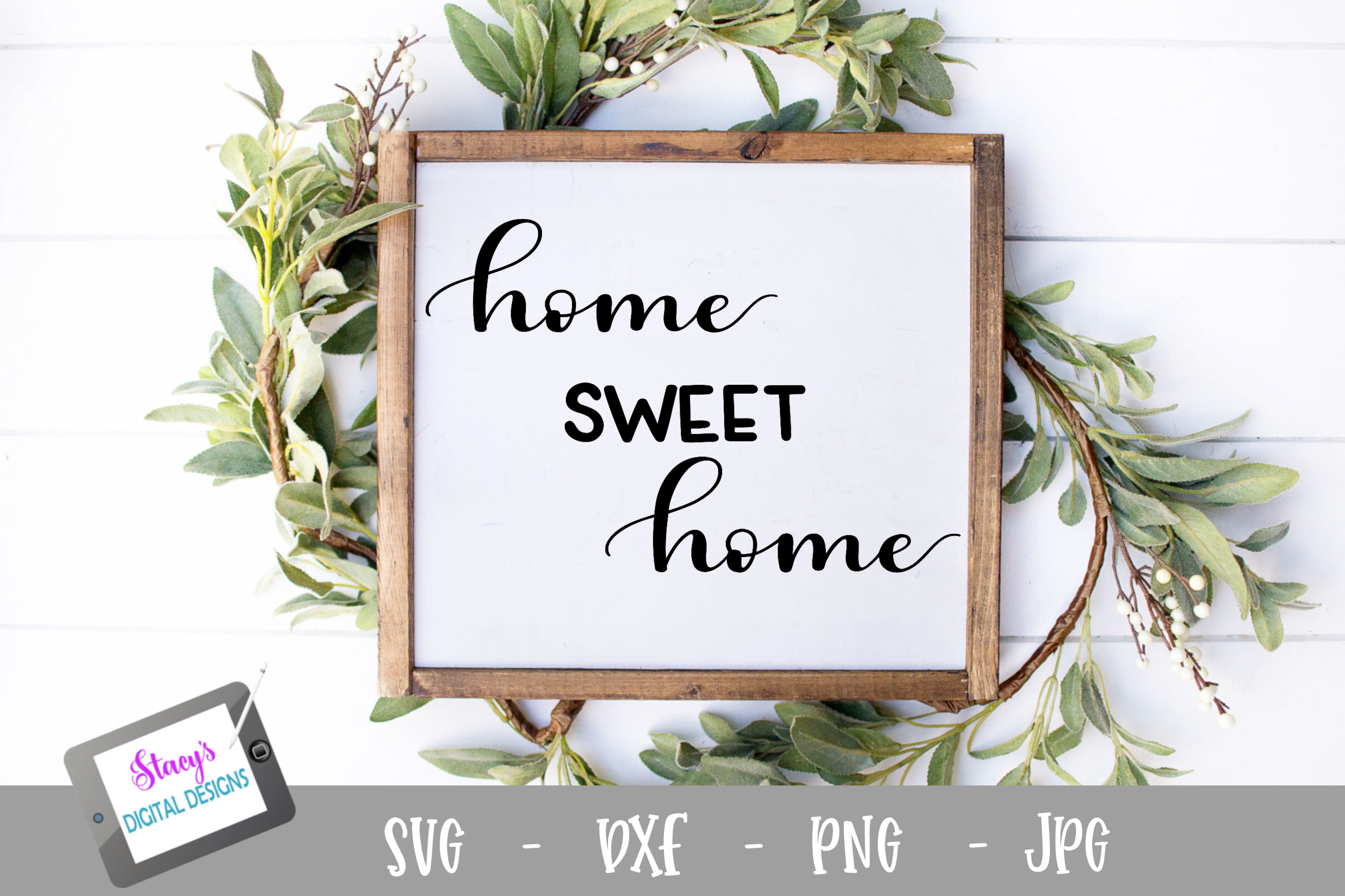 Download Free Home Sweet Home Svg Handlettered Graphic By for Cricut Explore, Silhouette and other cutting machines.