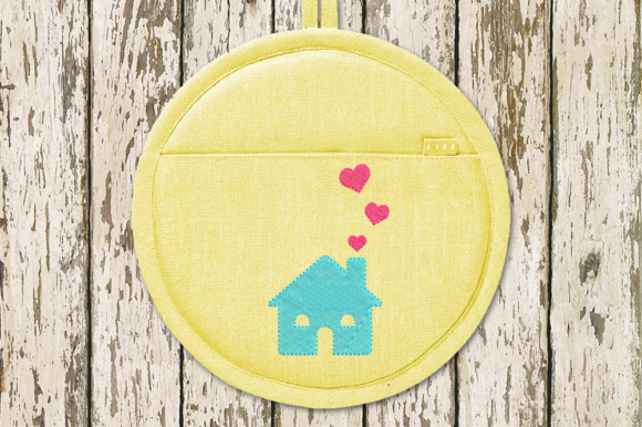 House with Hearts House & Home Embroidery Design By DesignedByGeeks