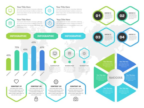 Infographic Element with Icon and Number Graphic Infographics By lutfyhasan