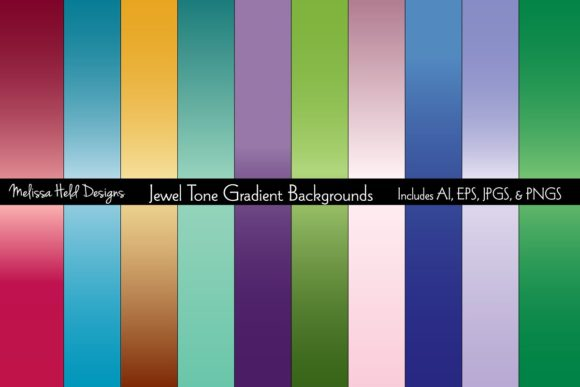 Jewel Tone Gradient Backgrounds Graphic Backgrounds By Melissa Held Designs