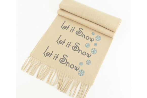Let It Snow Snowflake Christmas Embroidery Design By DesignedByGeeks - Image 1