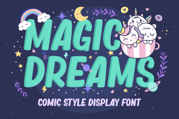 Print on Demand: Magic Dreams Display Font By figuree studio